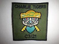 Vietnam War C Company 3rd Battalion 21st Infantry Regiment CHARLIE TIGERS Patch