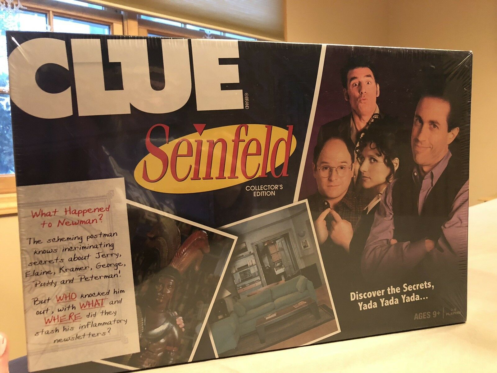 2009 (Hasbro)  CLUE  (SEINFELD)  COLLECTOR'S EDITION  Board Game, NEW  SEALED