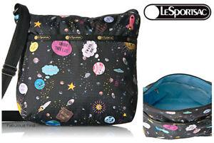 LeSportsac-Space-Talk-Small-Cleo-Crossbody-Handbag-Free-Ship-NWT-Space-Emojis