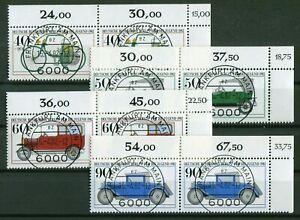 KBWZ-Berlin-660-663-Eckrand-Paar-Satz-gestempelt-Vollstempel-Frankfurt-Gummi
