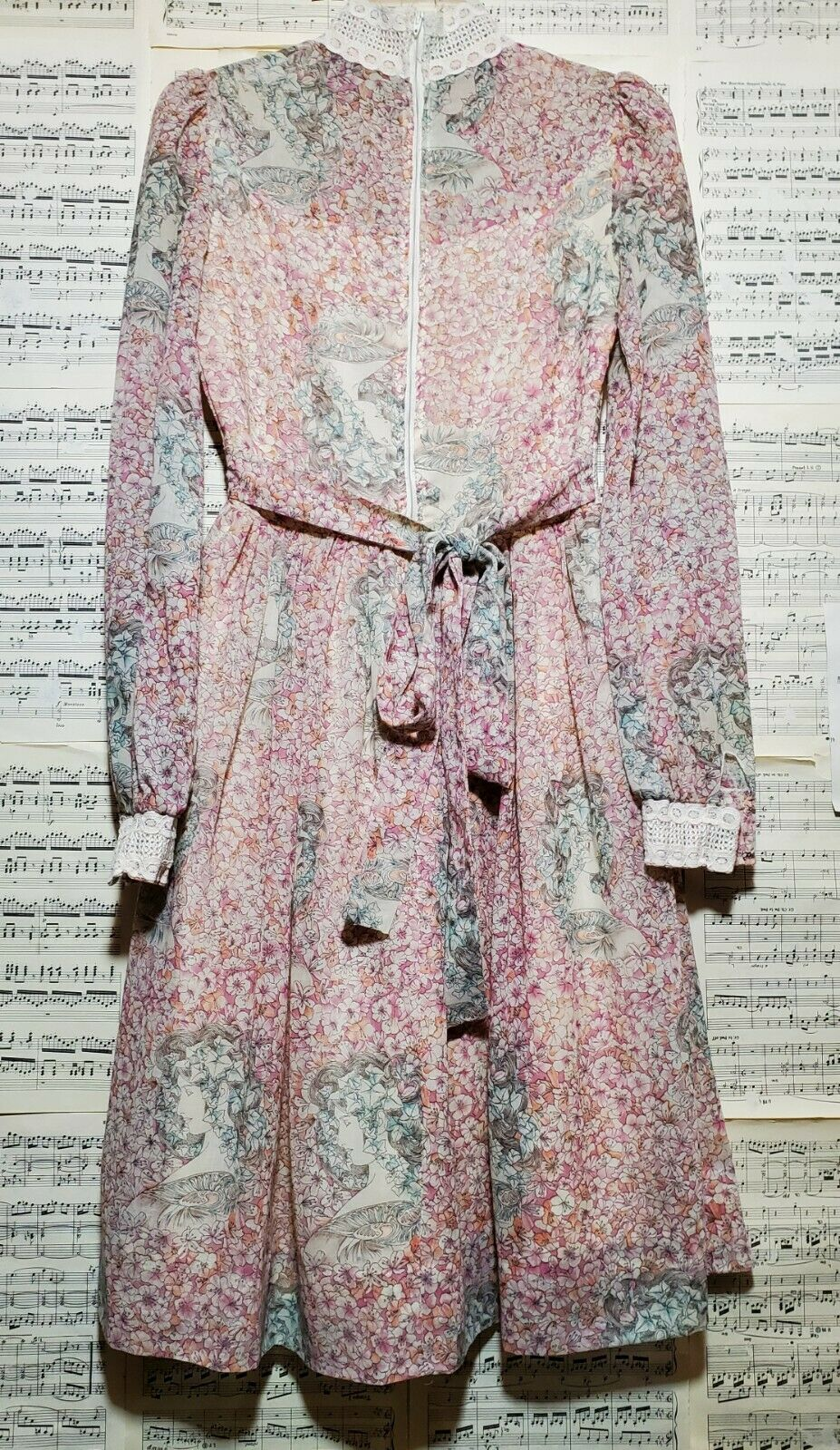 Vintage 1960s 1970s Unbranded Gunne Sax Style Wom… - image 9