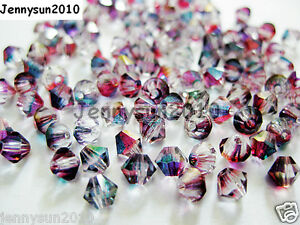 100Pcs-Top-Quality-Czech-Crystal-Bicone-Beads-Exclusive-3mm-4mm-Pomegranate