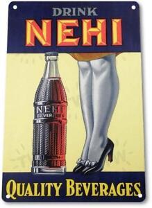 NEHI-Cola-Beverages-Vintage-Retro-Tin-Metal-Sign