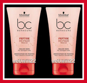2pc-SCHWARZKOPF-BC-Peptide-Repair-Rescue-sealed-ends-75ml-damaged-hair-treatment