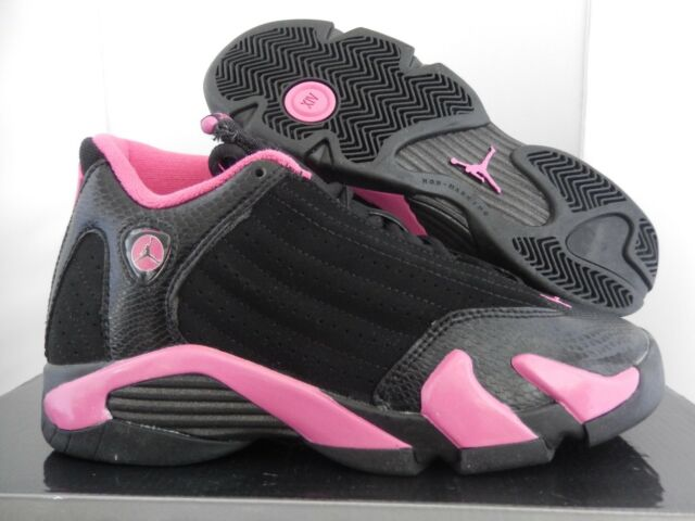 275537531b73c9 Nike Air Jordan 14 Retro (gs) SNEAKERS Suede Black Pink Girls Size 5 ...