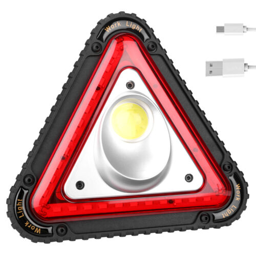 3COB+33LED USB Worklight 4Modes Camping Emergency Triangle Lamp USB Rechargeable