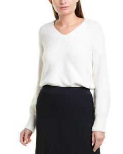 Vince-Textured-Sweater-Women-039-s-White-L