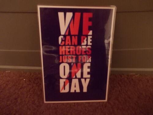 juste pour un jour Un A5 feuilleté Poster David Bowie chanson paroles Nous Pouvons Être Des Héros