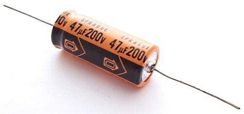 47uF 200V Axial Electrolytic Capacitors Vintage Sprague 516D476M200PS6AE 4 pcs