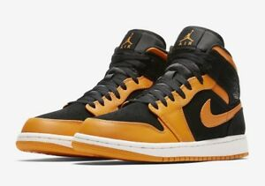 Details zu Nike Air Jordan 1 Mid 'Orange Peel' 554724 081 Size UK 14 EU 49.5 US 15 New