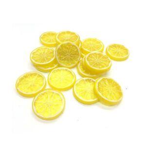 HUELE-20PCS-Mini-Small-Simulation-Lemon-Slices-Plastic-Fake-Artificial-Fruit