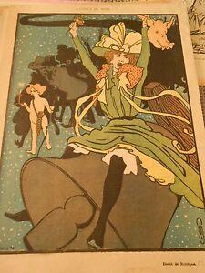 L-039-etoile-de-Noel-dessin-de-Roubille-Humour-Print-1899