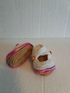 Hand Knitted Chaussons-bubblegummers - 0-3 Mois Bnwt-afficher Le Titre D'origine