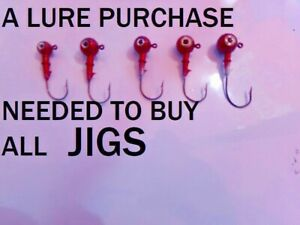 Plastic Fishing Lure Purchase Required to Buy Jigs //No Lures-no Jigs