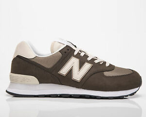 New Balance 574 Men's Black Olive Mushroom Low Casual Lifestyle Sneakers Shoes