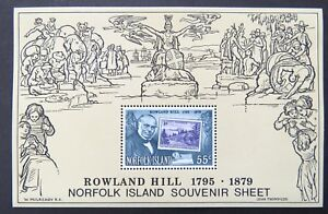 1979-Norfolk-Island-Stamps-Centenary-Death-of-Sir-Rowland-Hill-Mini-Sheet-MNH
