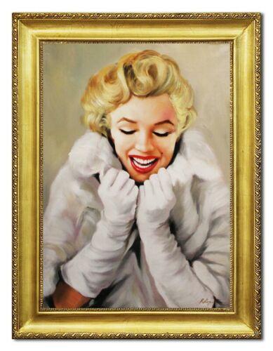 Marylin Monroe Gemälde Bild Bilder Echt Öl Handgemalt Portrait G96456