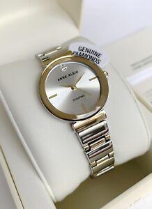 Anne Klein Watch * 2435SVTT Diamond 2 Tone Gold & Silver Steel Women COD PayPal