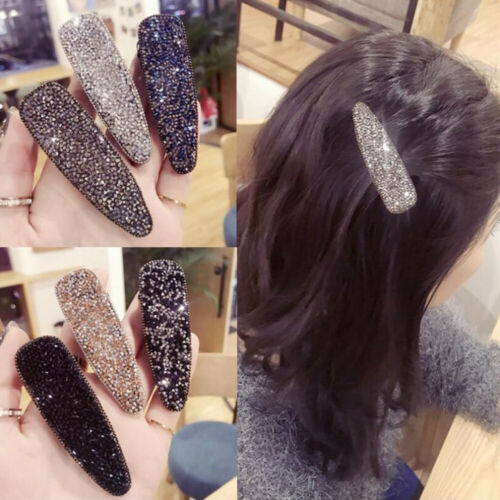 New Fashion Women Crystal Diamante Hair Clip Barrettes Hair Pin Hair Accessories
