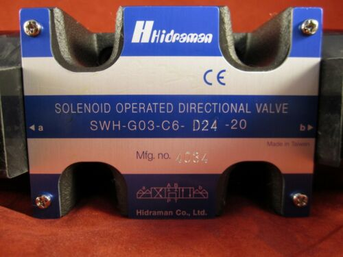 Hydraulic Hidraman Solenoid Valve SWH-G03-C6-D24-20 Northman