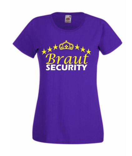 JGA Braut Security Junggesellenabschied Hochzeit T-Shirt Geschenk Shirt S401
