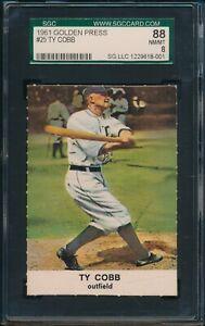 1961-Golden-Press-Baseball-Ty-Cobb-25-SGC-88-TIGERS-NM-MT-HOF