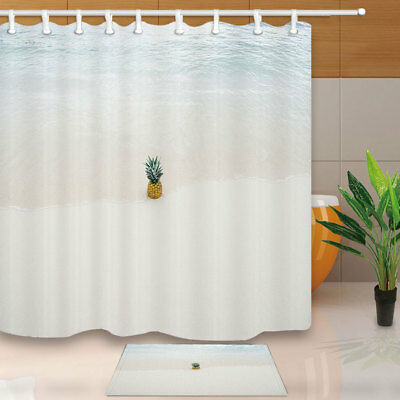 OWNFUN Christmas Series Shower Curtain Bathroom Decor with Hooks,71x71inches,White