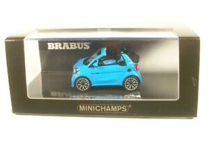 Smart-Brabus-Ultimate-125-Cabriolet-Blue-2017-1-43-MINICHAMPS