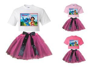 """Lilo and Stitch"" Personalized White or Pink T-Shirt & Pink&BlackTutu<wbr/>-NEW"