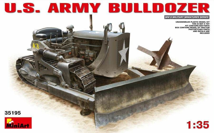 U.S. US Army Bulldozer Plastic Kit 1 35 Model MINIART