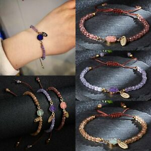 Fashion-Natural-Stone-Beaded-Bracelet-Women-Lucky-Charm-Knot-Rope-Bangle-Gifts
