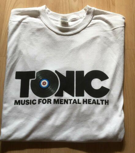 Tonic Music For Mental Health T-shirt grande BN Blanc Top Unisexe Charity Clothing