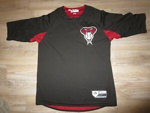 Shelby-Miller-26-Arizona-Reverso-Diamantes-Majestic-Juego-Usado-MLB-Camiseta