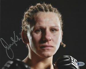 Justine Kish Signed 8x10 Photo BAS Beckett COA UFC Fight Picture