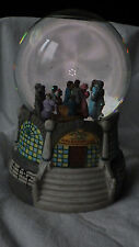 "LIBERTY FALLS ""ROLLER RINK"" SNOW GLOBE MUSIC BOX CHRISTMAS WESTERN SNOW VILLAGE"