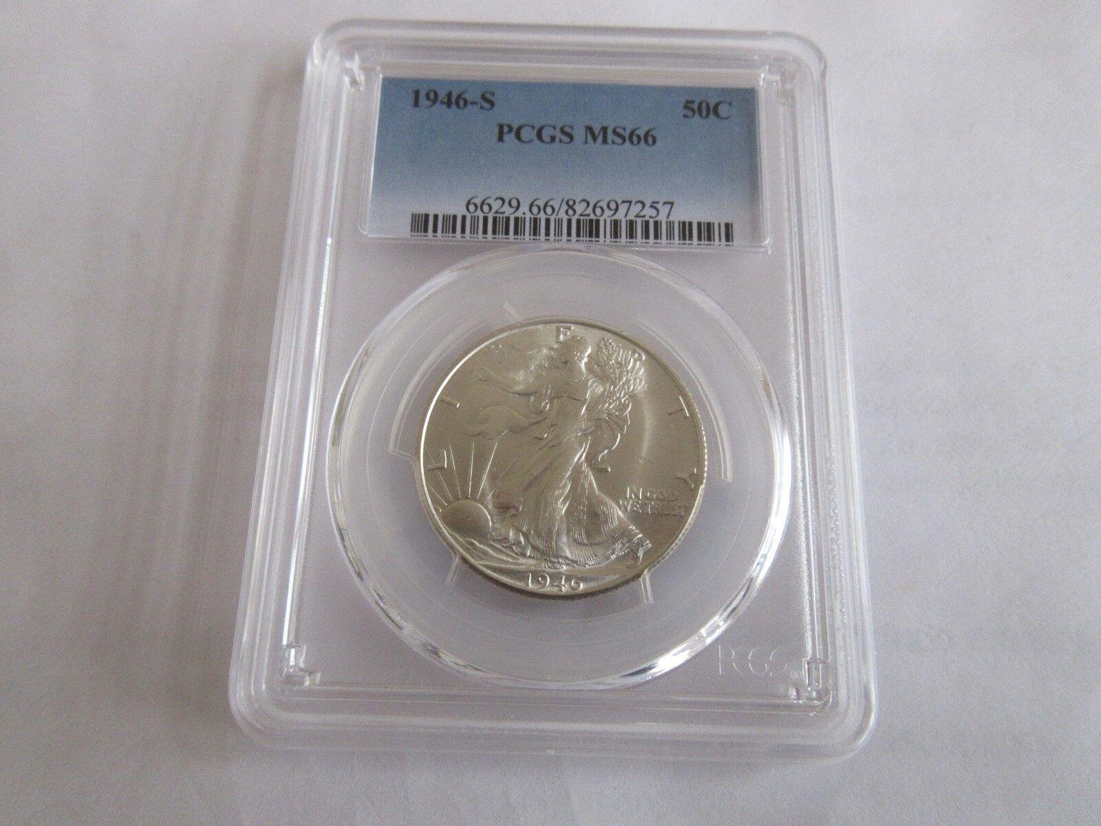 1946-S, Walking Liberty Half Dollar , PCGS MS66