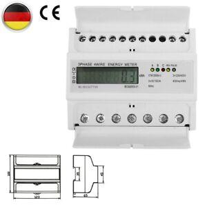 DIN Hutschiene 3 Phasen LCD Drehstromzähler Wechselstromzähler Stromzähler DHL