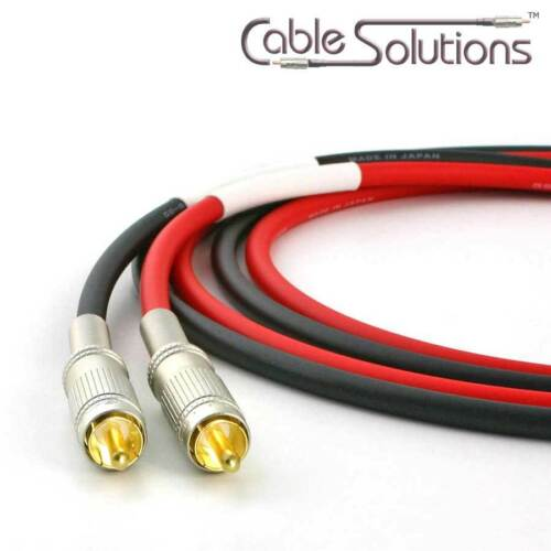 Canare Low-Microphonic Stereo Interconnect Cables 0.5m