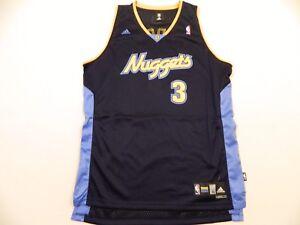 designer fashion d6938 33c3d Details about M16 New ADIDAS Denver Nuggets Chris Allen Iverson AI SWINGMAN  Jersey MEN'S
