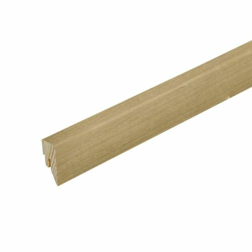 Sockelleiste Fußleiste Echtholz furniert Eiche Buche Esche 16 x 40 x 2400 mm