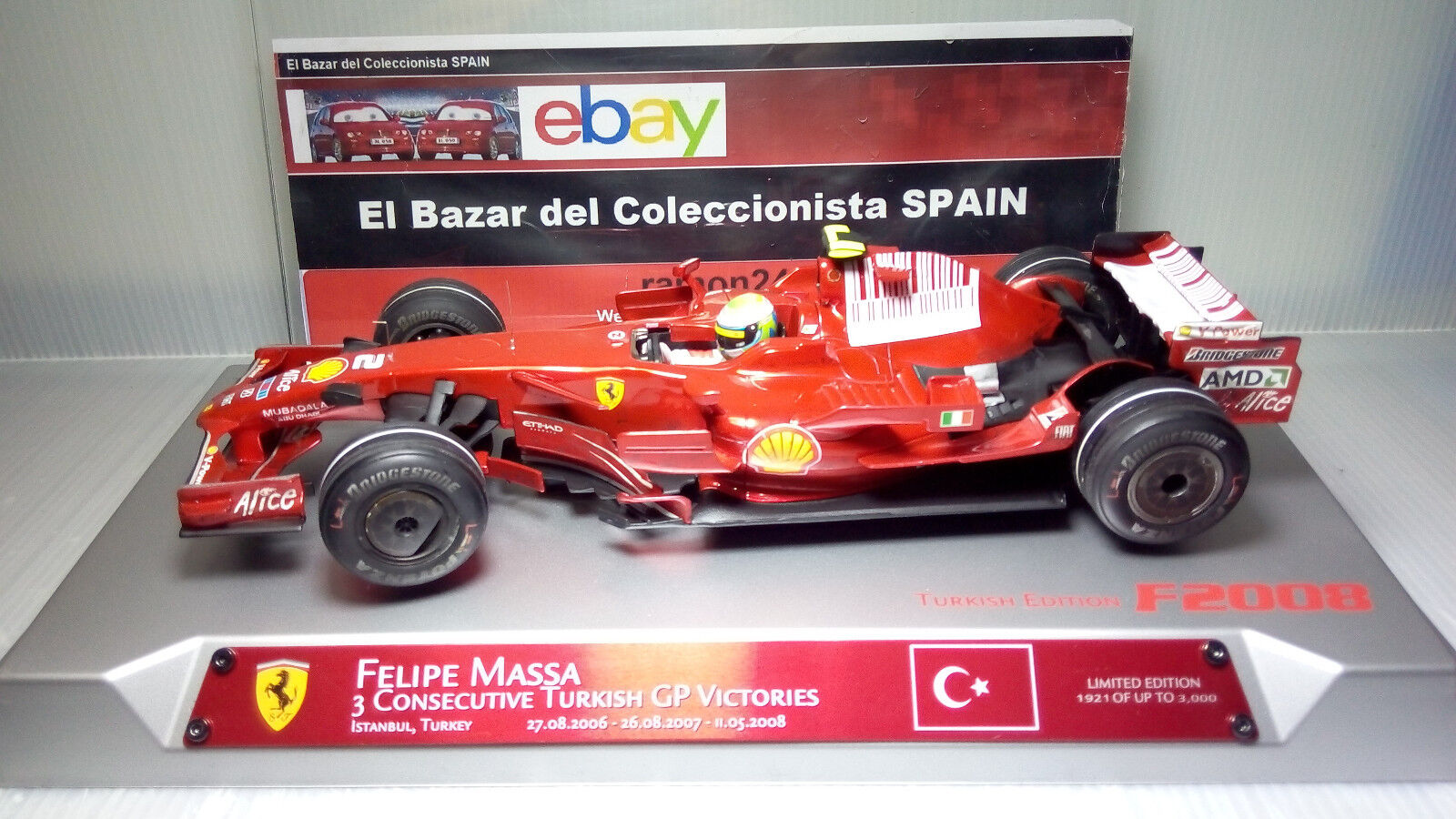 1 18 MODIFIED 2008 Ferrari F1 F2008 F. Massa TURKISH GP - HW - 3L050
