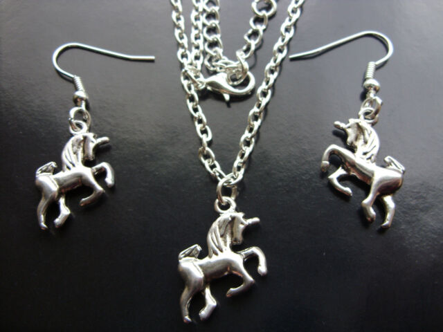A Tibetan Silver * Unicorn Horse * Charm Pendant Necklace or Earrings, Kitsch