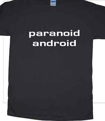 """""""paranoico Android"""" Musica T-shirt Inspired By Radiohead-mostra Il Titolo Originale"""