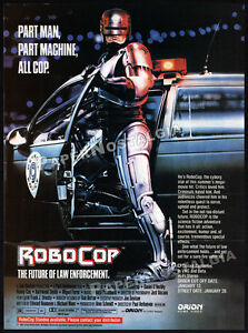 ROBOCOP-Original-1987-Trade-print-AD-movie-promo-NANCY-ALLEN-PETER-WELLER