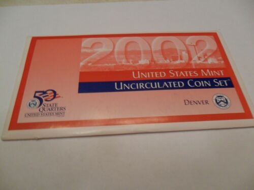 2002 P /& D Mint Set Envelope Envelopes ONLY *NO COINS*  **FREE SHIPPING**