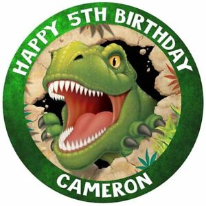 Super Dinosaur T Rex Edible Icing Cake Image Cake Topper Birthday Personalised Birthday Cards Paralily Jamesorg