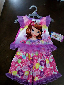 034-Sofia-The-First-034-Princess-2pc-PJ-Pink-Girls-Shorts-New