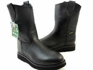 591c975c00954 MEN S WORK BOOTS GENUINE LEATHER BLACK COLOR WESTERN BOOTS COWBOY ...