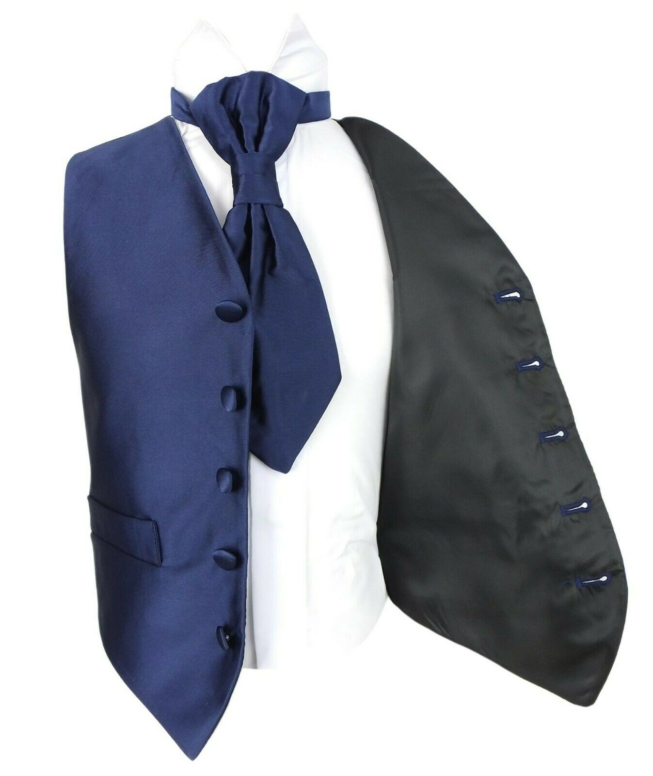 301d6ec34212 Vianni Boys Plain Satin Page boy Wedding Waistcoat Cravat Vest Set Age 1 to  15. >