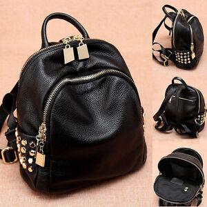 Women-039-s-Small-Mini-Genuine-Leather-Backpack-Rucksack-Daypack-Purse-Cute-bag